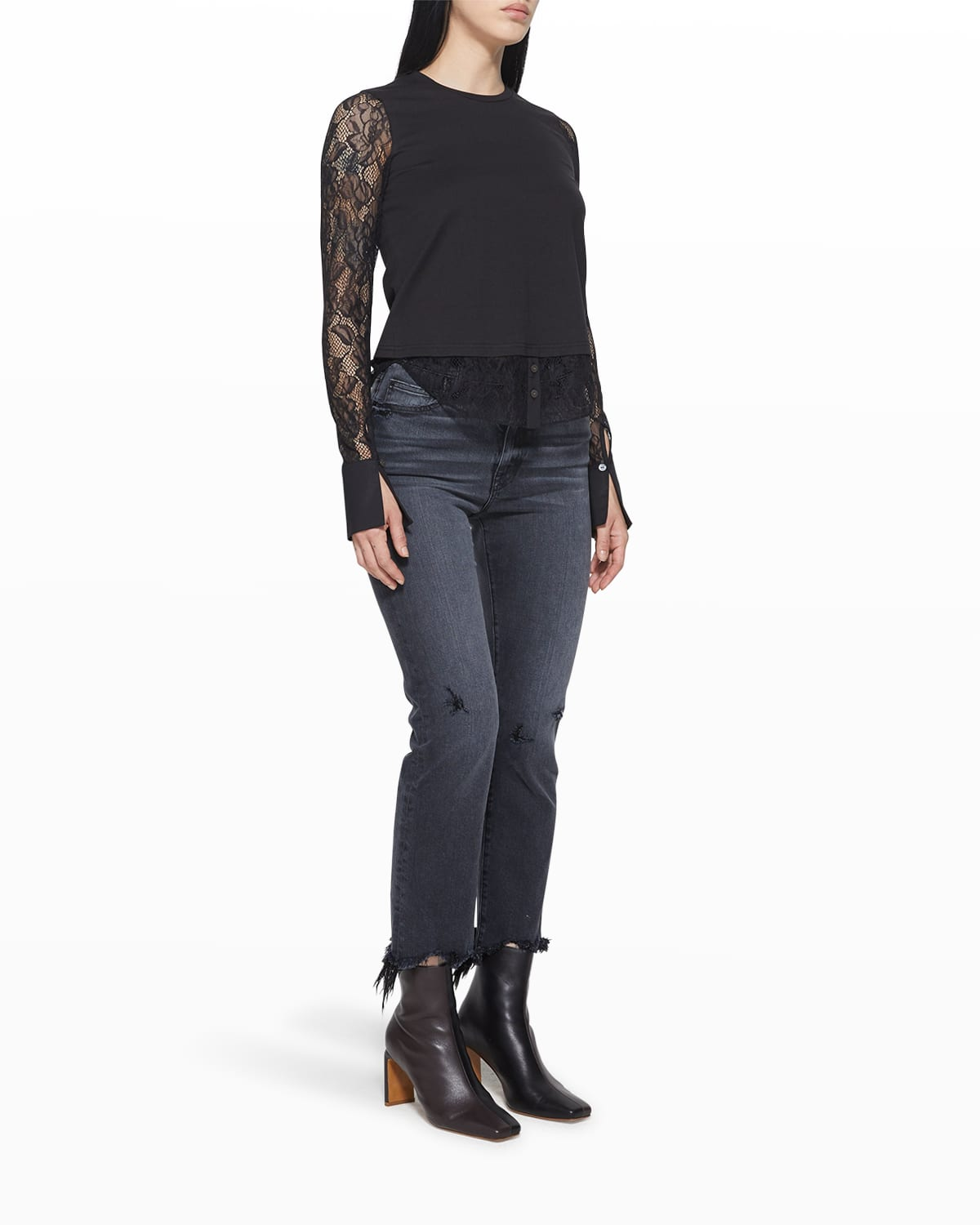 Torrin Recycled Lace Combo Shirt