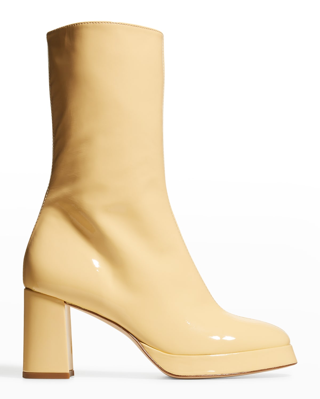 Carlota Sunrise Patent Mid Boots