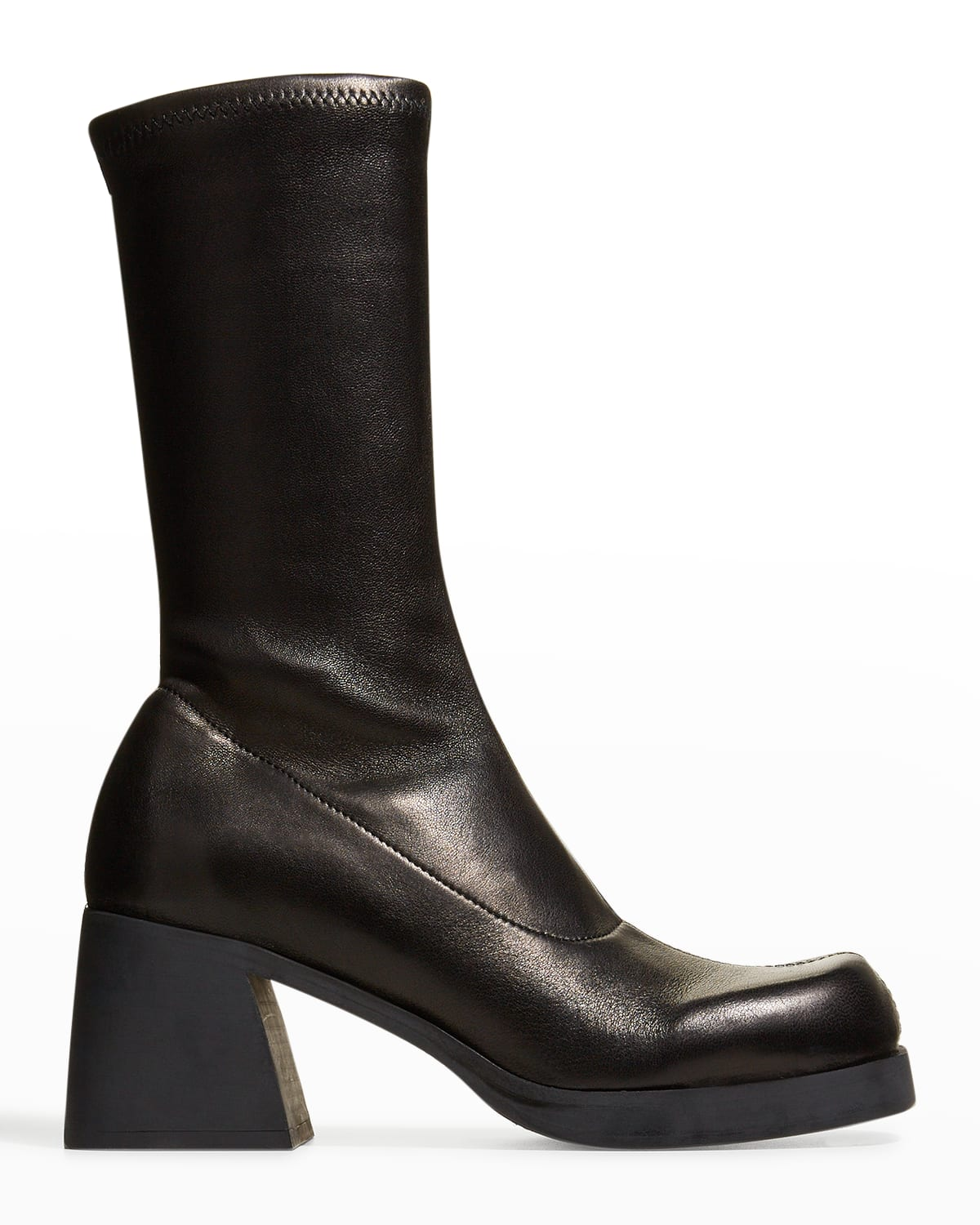 Elke Stretch Leather Mid Boots