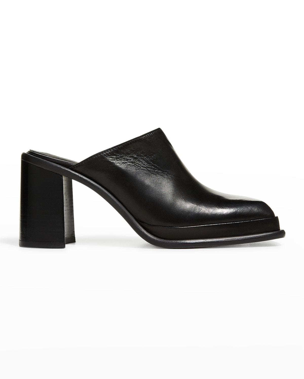 Eldora Leather Slide Mules