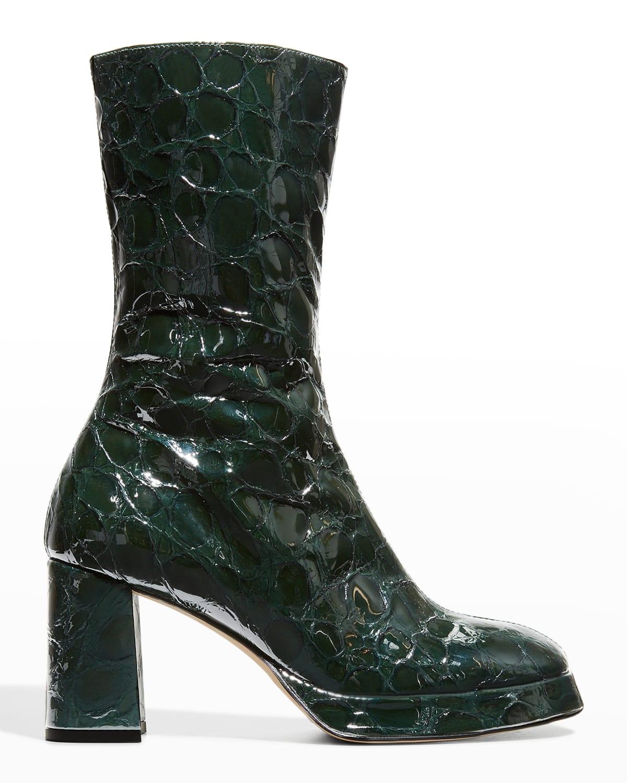 Carlota Mock-Croc Mid Boots