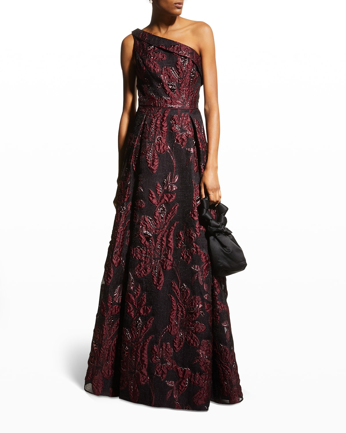 One-Shoulder Jacquard Ball Gown