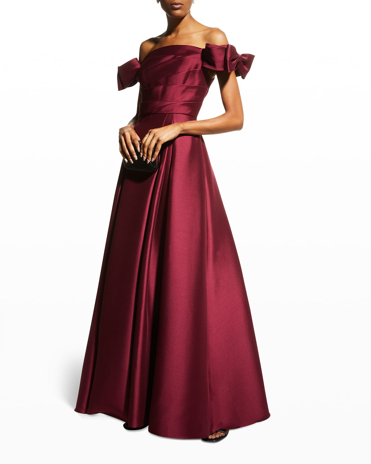 Off-the-Shoulder Mikado Ball Gown