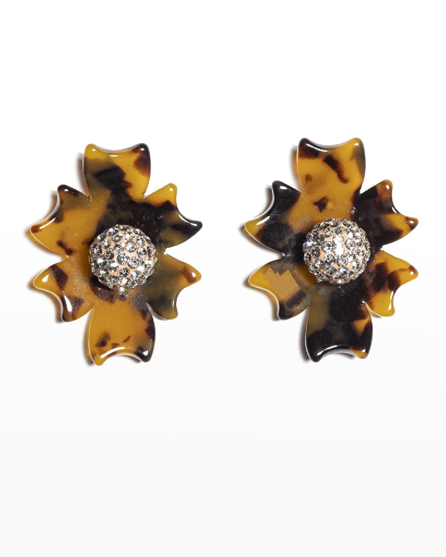 Santa Fe Crystal Button Earrings