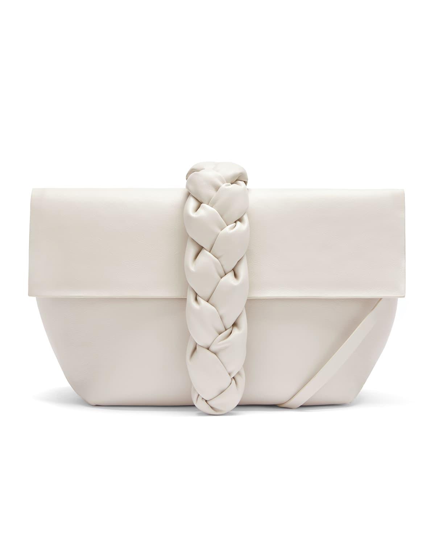 Verona Braided Calfskin Clutch Bag