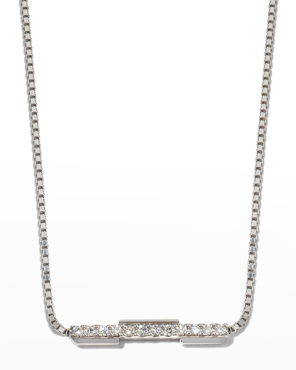 Link to Love Necklace in 18k White Gold and Diamonds