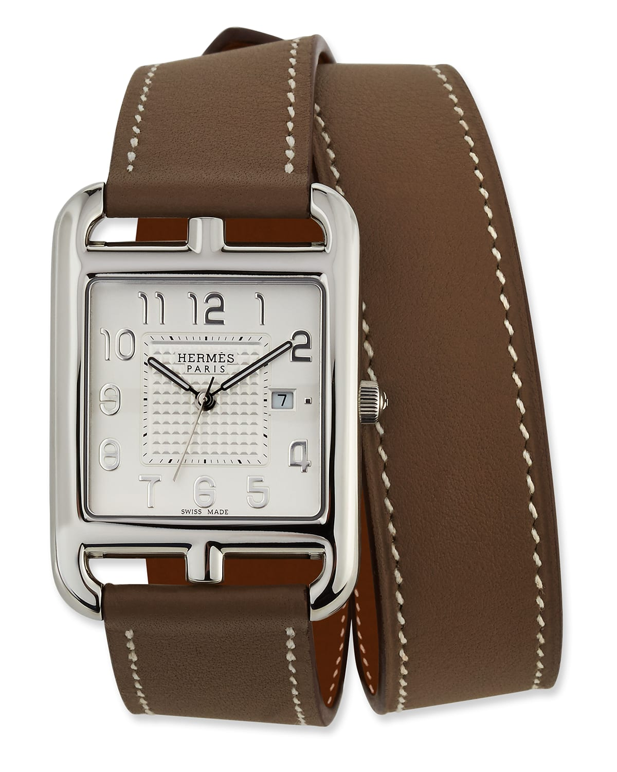 Large Cape Cod GM Watch with Taupe Leather Strap