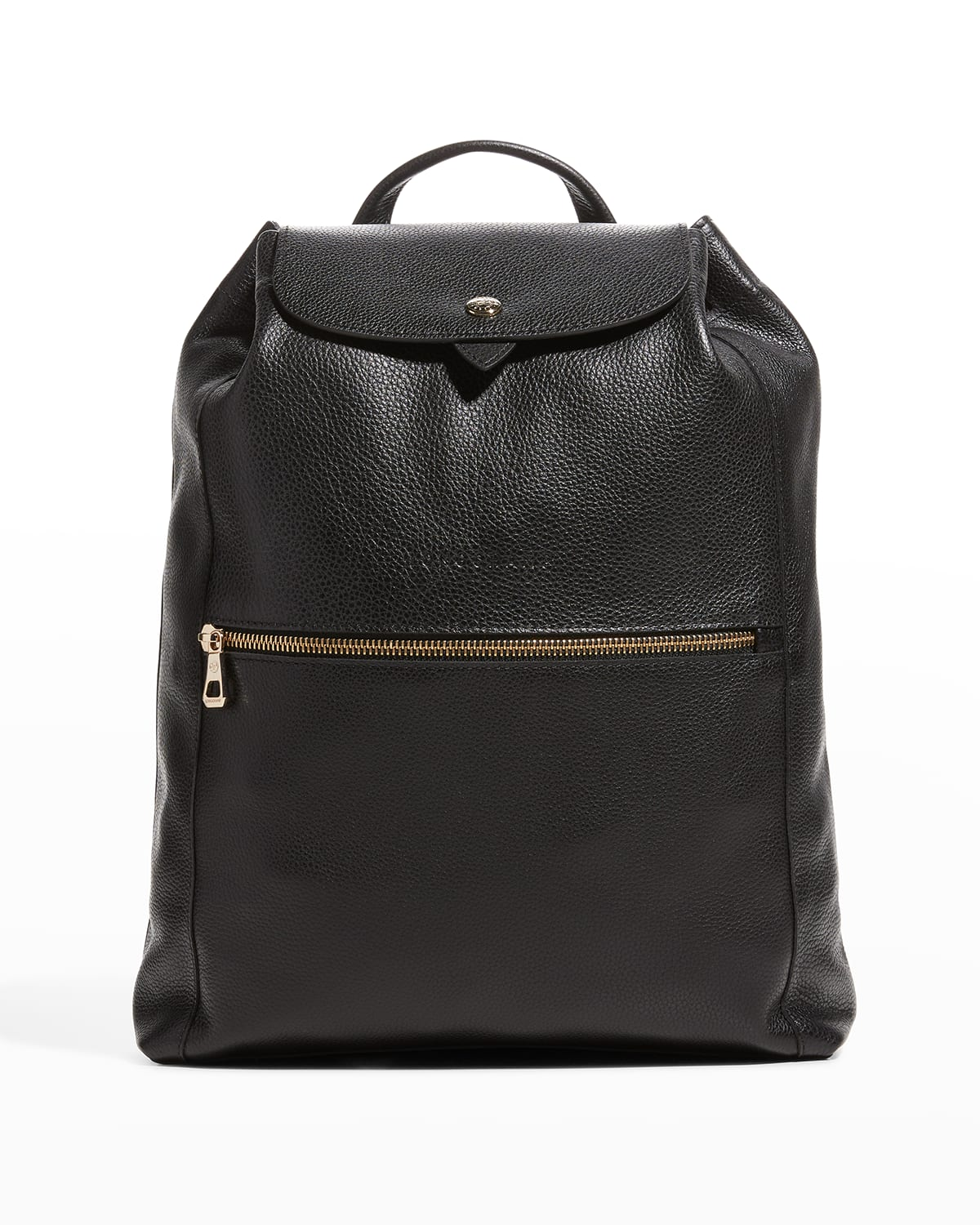 Le Foulonne Drawstring Leather Backpack