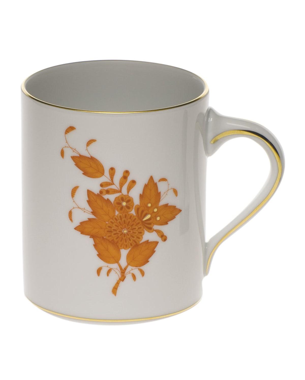 Herend Chinese Bouquet Rust Coffee Mug