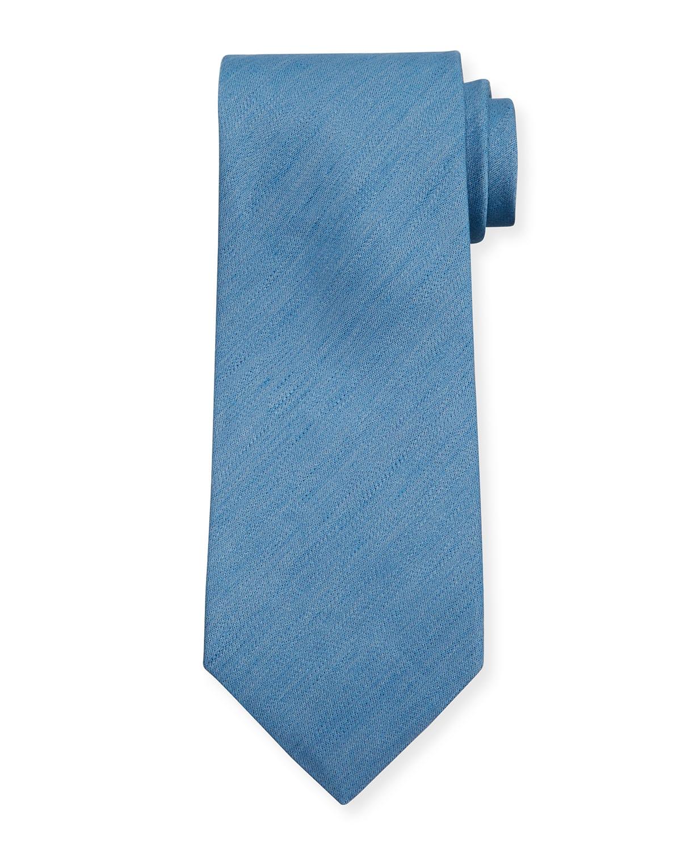 Men's Solid Linen Tie