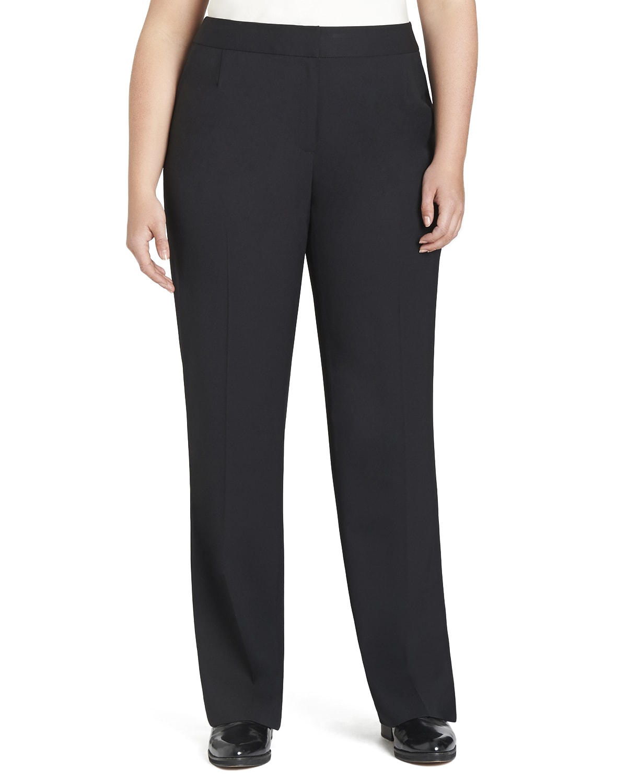 Plus Size Menswear Straight-Leg Stretch-Wool Pants