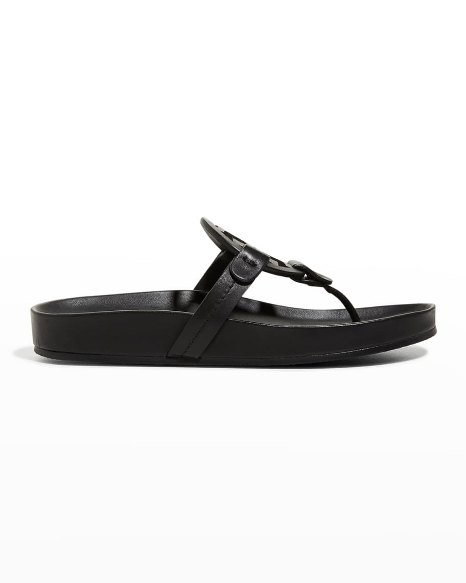 Tory Burch Miller Cloud Leather Thong Sandals | Neiman Marcus