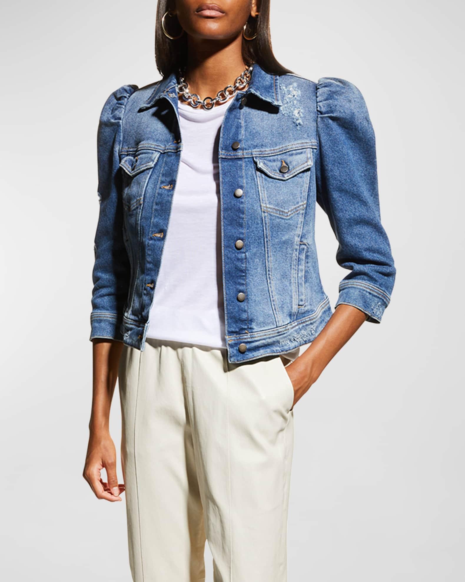 Retrofete Ada Puff-Sleeve Denim Jacket | Neiman Marcus