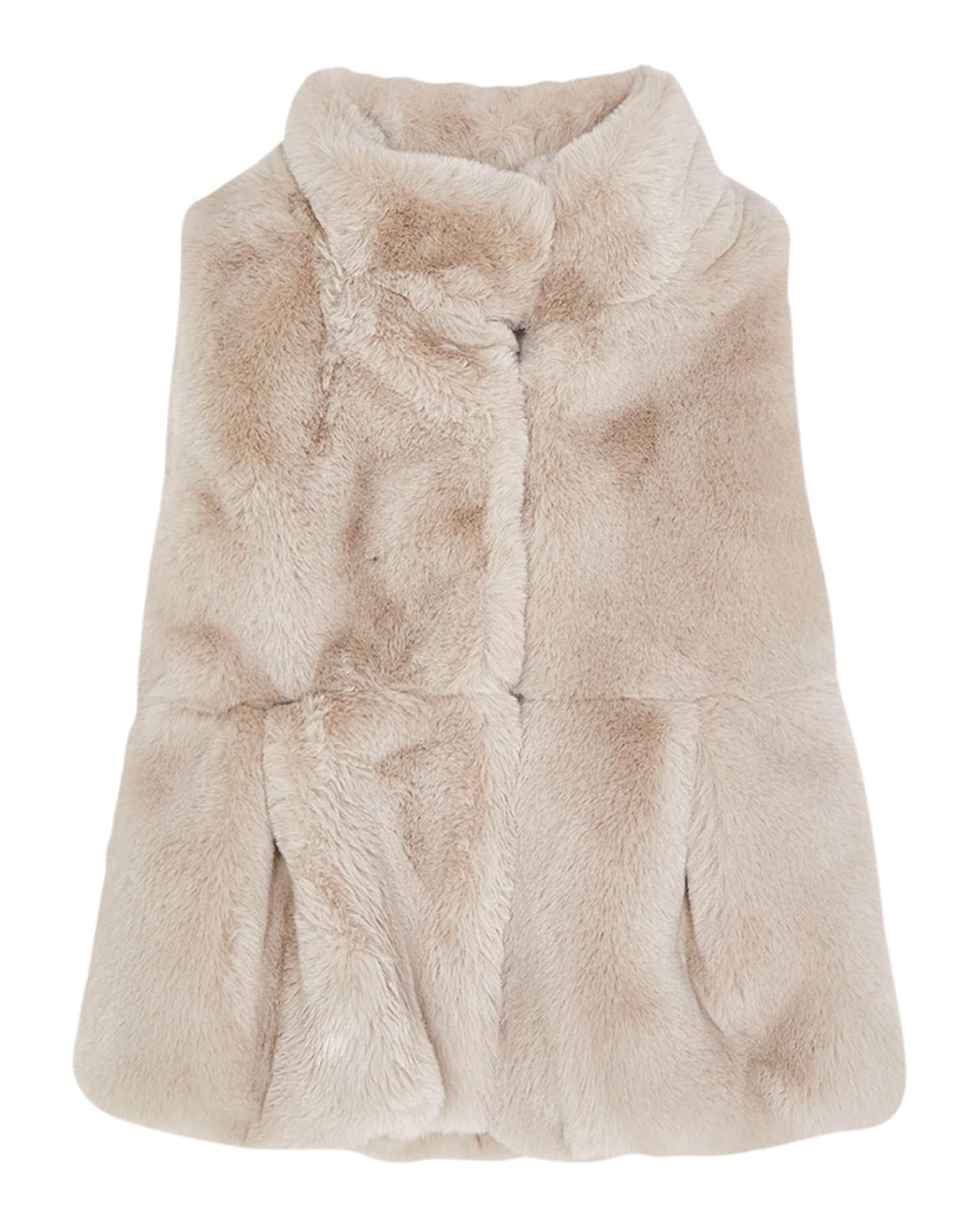 Mayoral Girl's Faux-Fur Vest, Size 3-7   Neiman Marcus