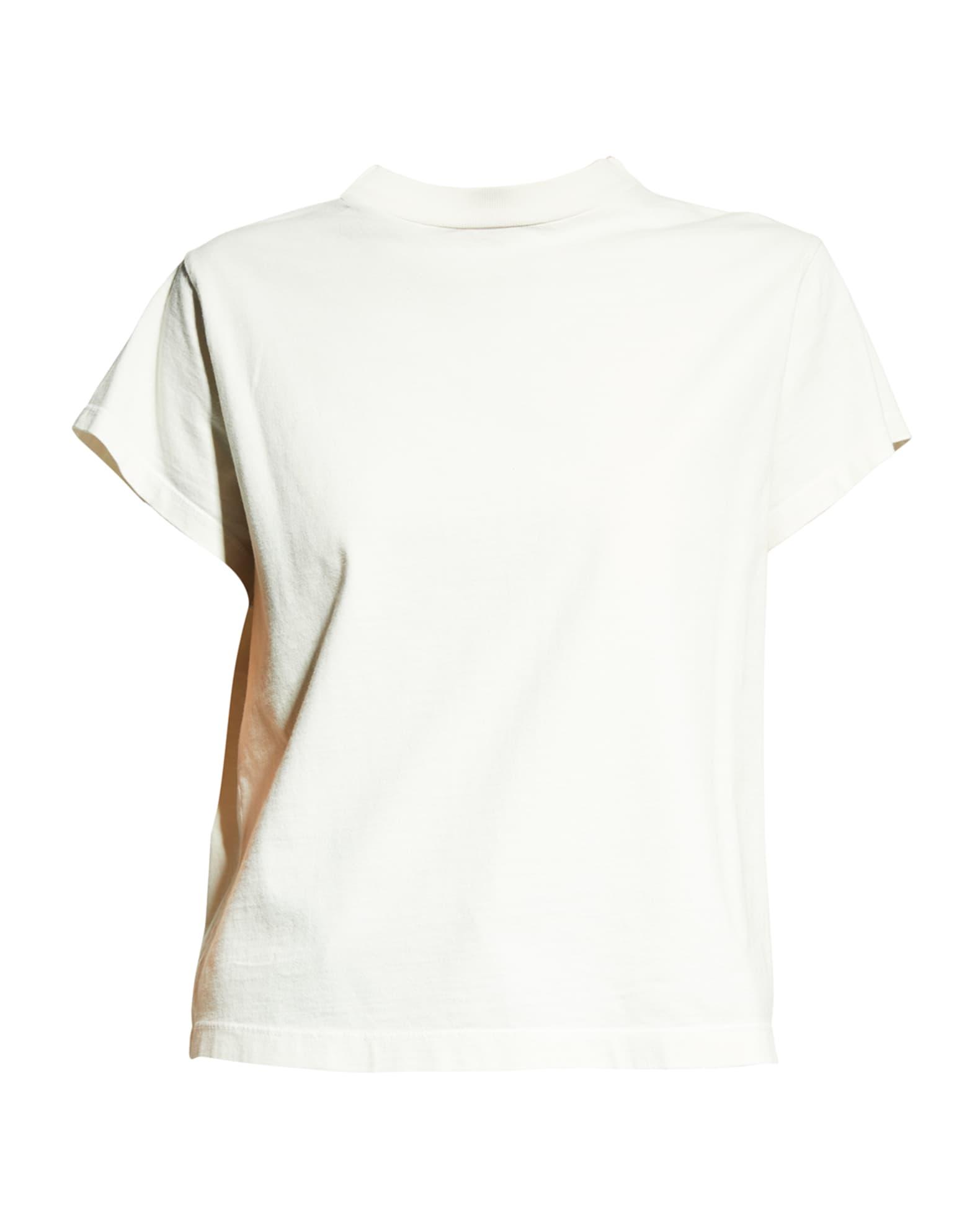 AGOLDE Anika Cap-Sleeve Tee   Neiman Marcus