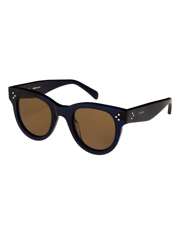 Studded Round Acetate Sunglasses