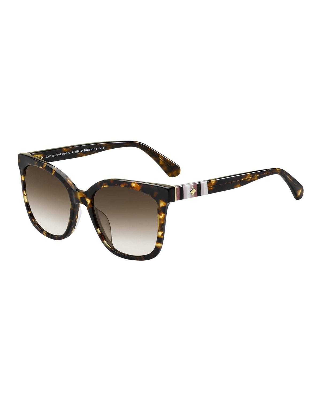 kiyas acetate rectangle sunglasses